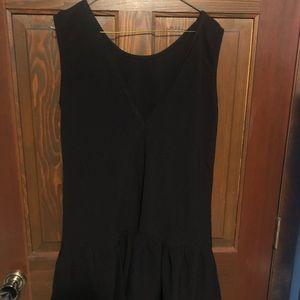 Black ruffle bottom dress